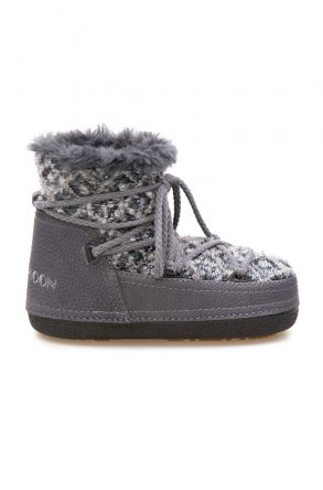 Cool Moon Genuine Sheepskin Lined Women's Snow Boots 251314 Gray