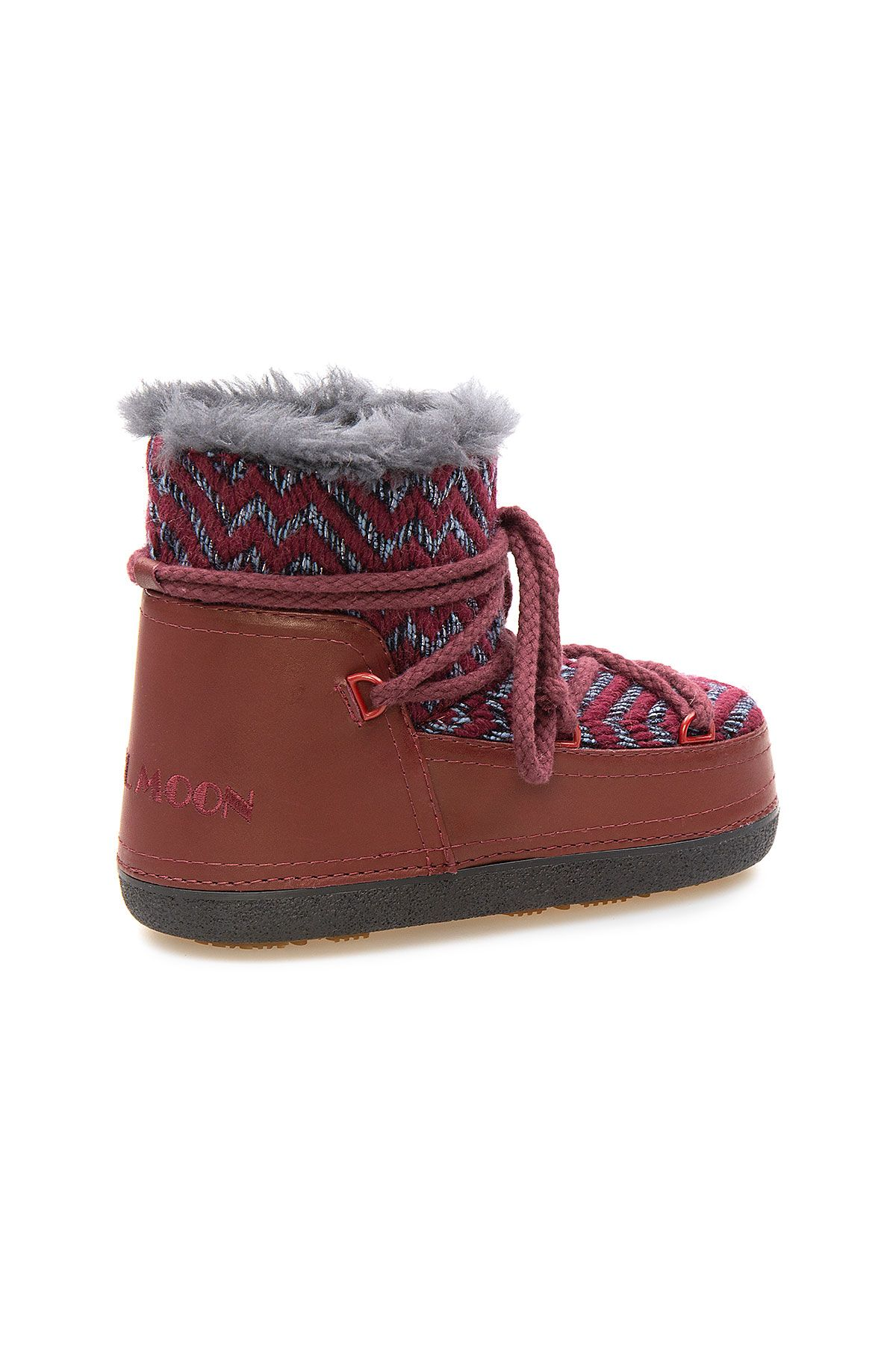Cool Moon Genuine Sheepskin Lined Women's Snow Boots 251315 Claret red