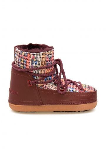 Cool Moon Genuine Sheepskin Lined Women's Snow Boots 251317 Claret red