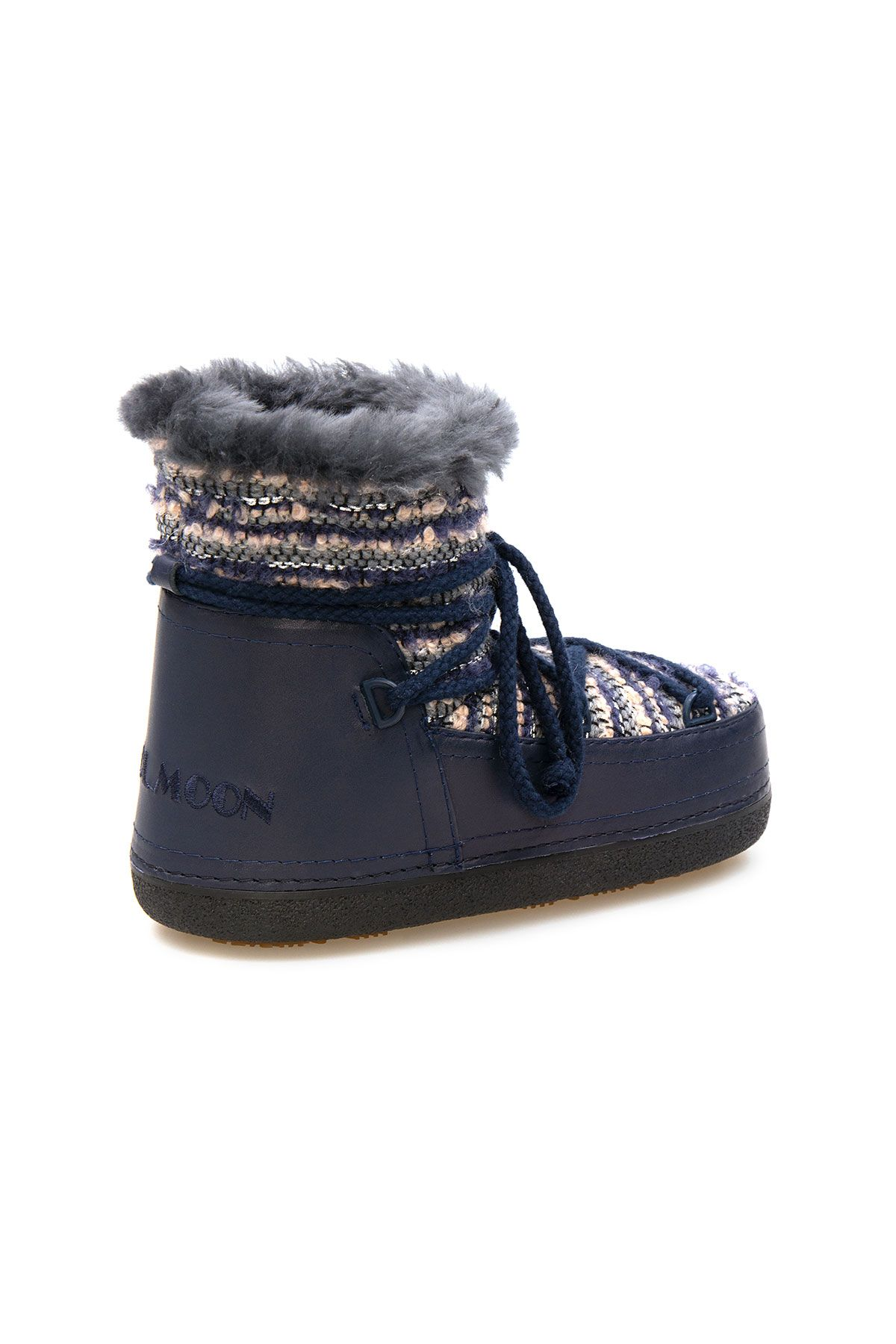Cool Moon Genuine Sheepskin Lined Women's Snow Boots 251328 Navy blue