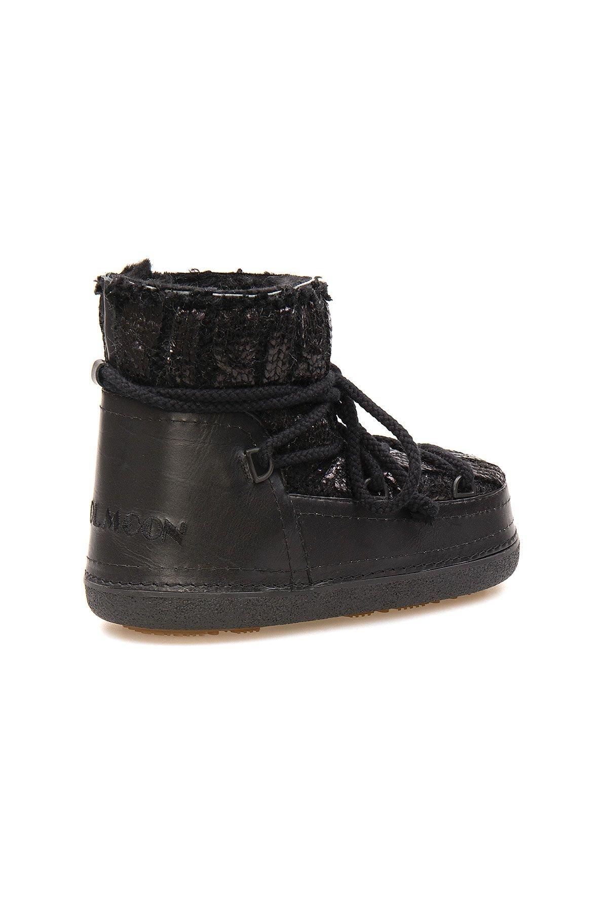Cool Moon Genuine Sheepskin Lined Women's Snow Boots 251320 Black
