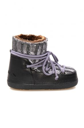 Cool Moon Genuine Sheepskin Lined Women's Snow Boots 251320 Gray
