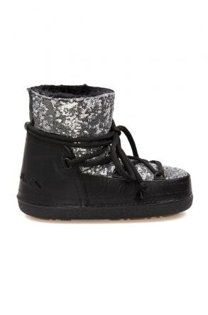 Cool Moon Sheepskin Women's Snow Boots With Sequin 251321 Gray