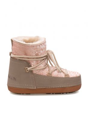 Cool Moon Sheepskin Women's Snow Boots With Sequin 251322 Powdery