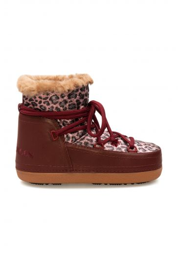 Cool Moon Genuine Sheepskin Lined Women's Snow Boots 251323 Claret red