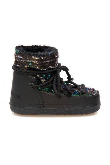 Cool Moon Women's Sheepskin Snow Boots 251324 Black