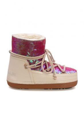 Cool Moon Women's Sheepskin Snow Boots 251330 Beige