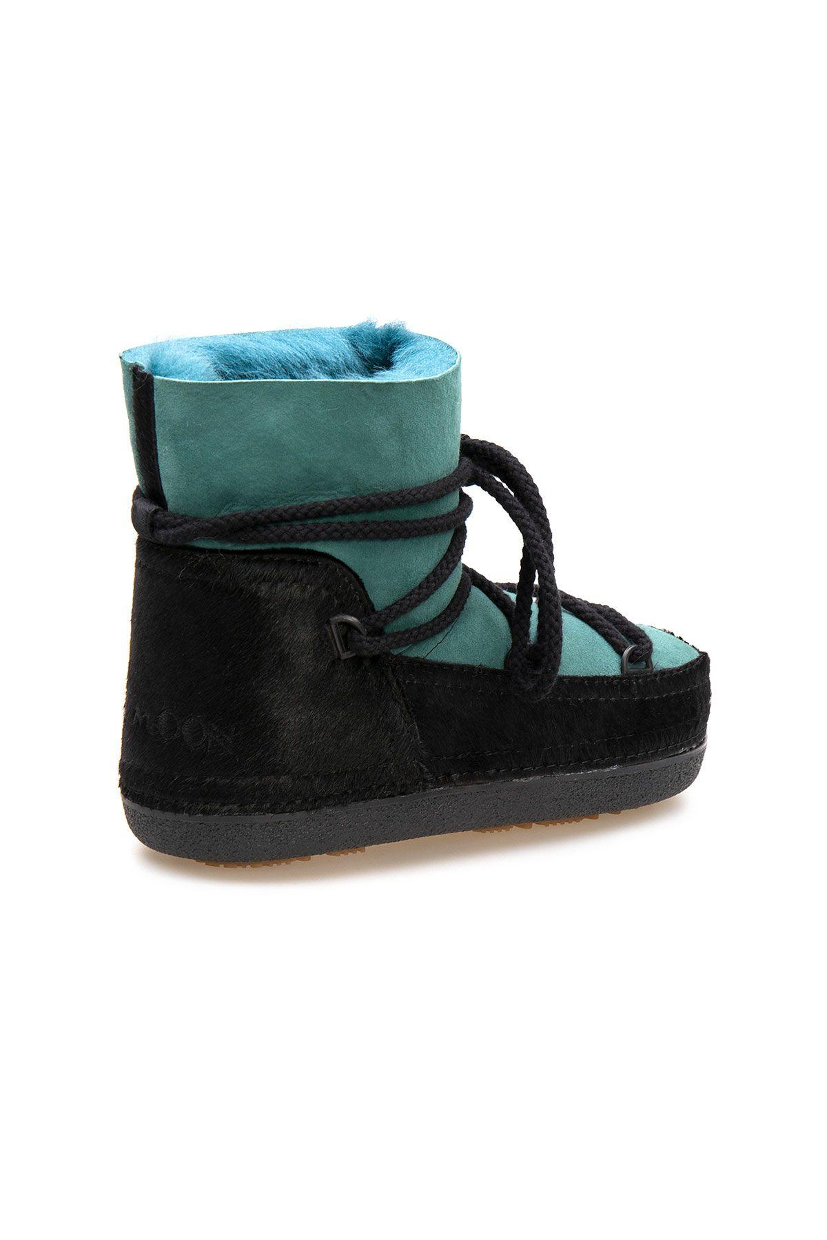 Cool Moon Women's Sheepskin Snow Boots 251331 Black