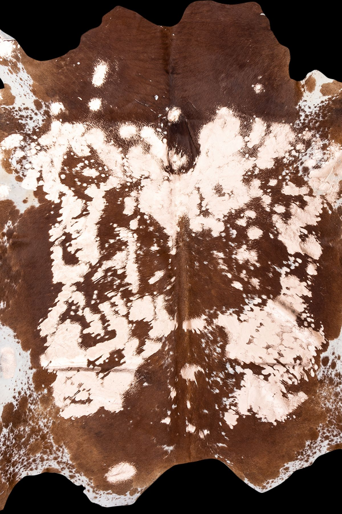 Erdogan Deri Genuine Calfskin Carpet Covered with Copple Colored Bronze Powder DH0125 Brown