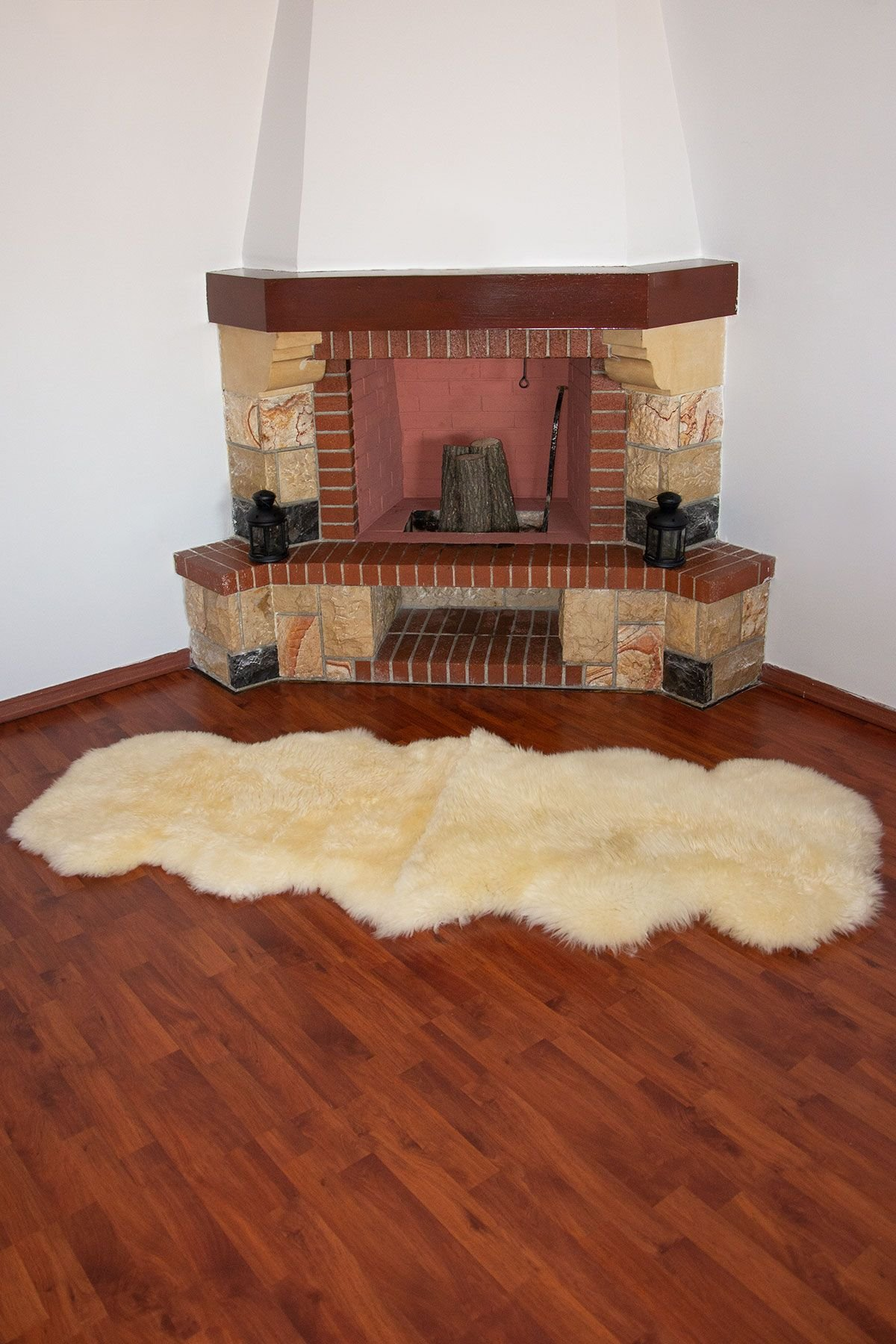Erdogan Deri Double Sheepskin Rug DKR082 White