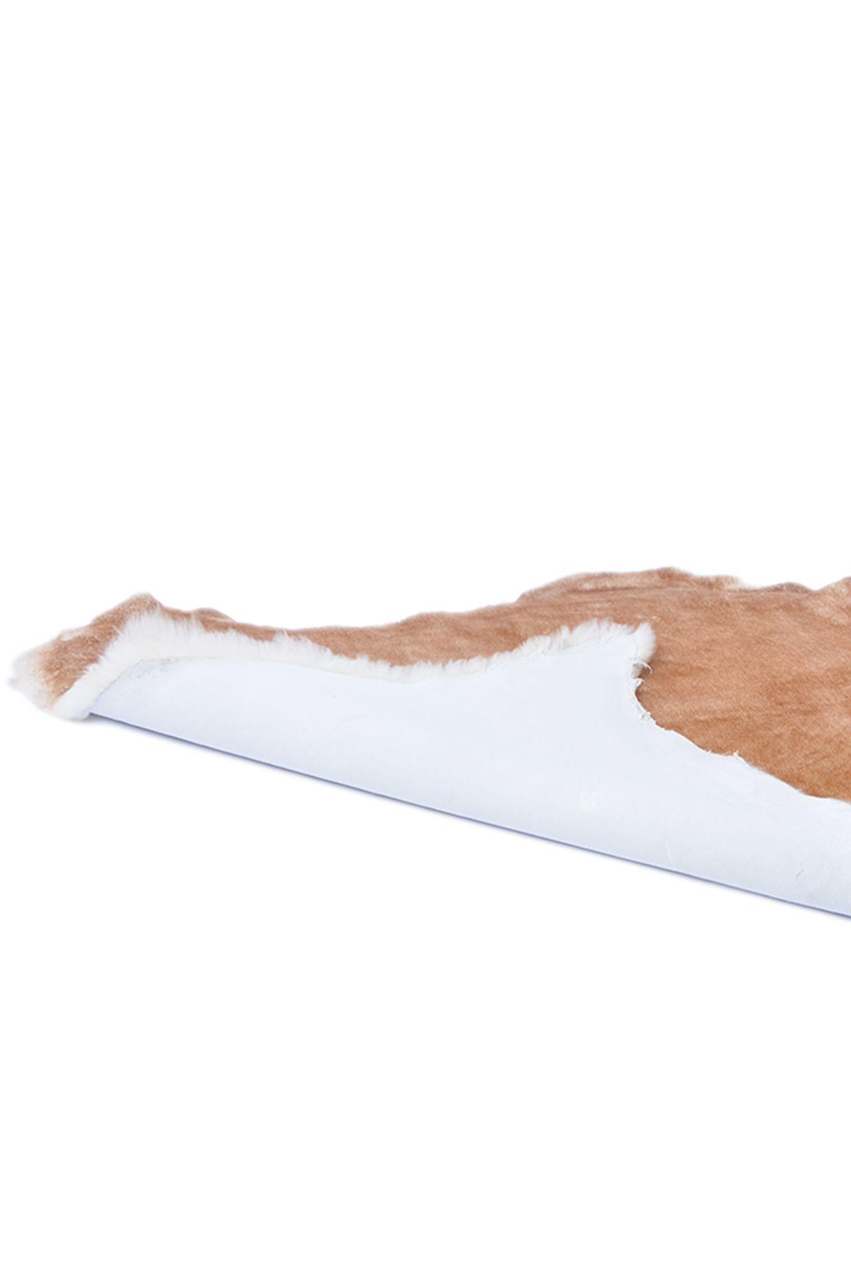 Erdogan Deri Decorative Sheepskin Rug Brown