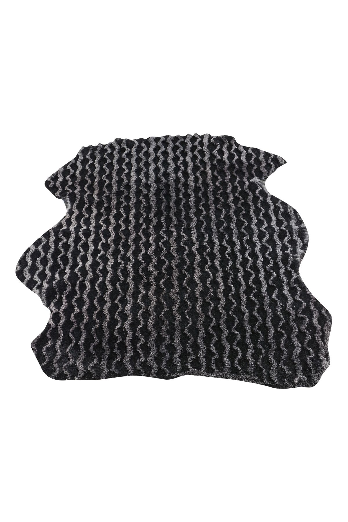 Erdoğan Deri Genuine Leather Natural Embossed Sheepskin Rug DKR060 Black