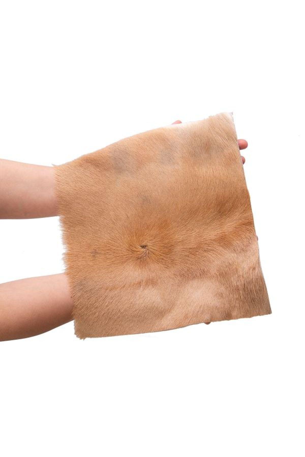 Erdogan Deri Genuine Gazelle Skin Piece 25x30 cm Natural