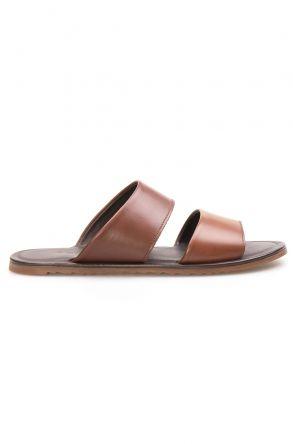 Florra Genuine Leather Men Slippers 203125 Ginger