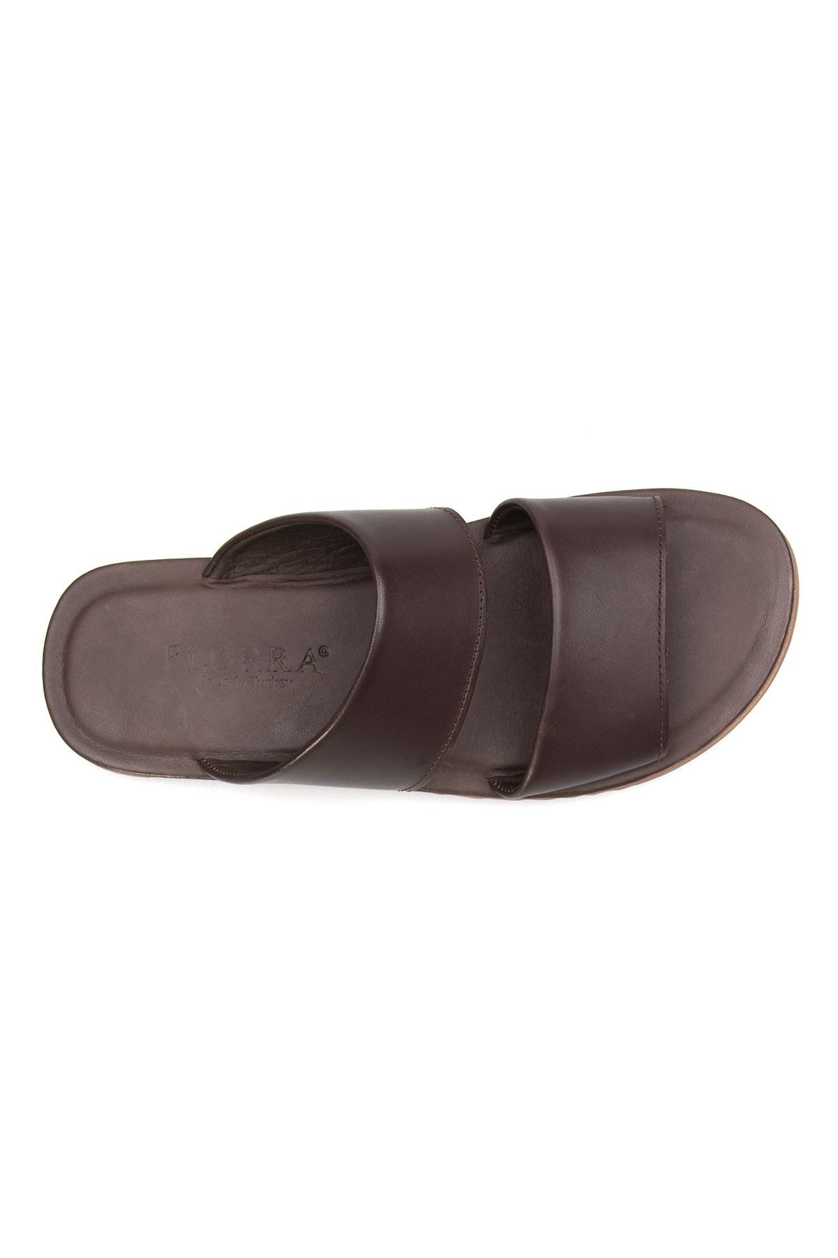 Florra Genuine Leather Men Slippers 203125 Brown