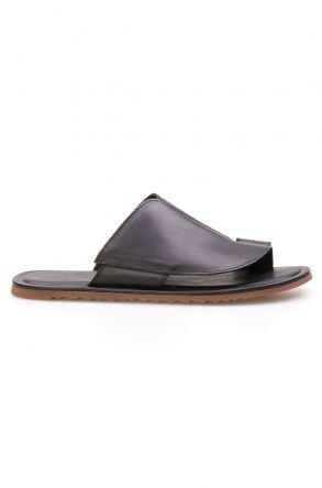 Florra Genuine Leather Men Slippers 203126 Black