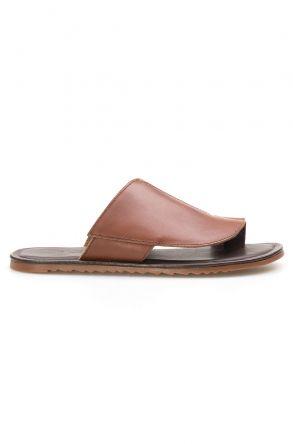 Florra Genuine Leather Men Slippers 203126 Ginger
