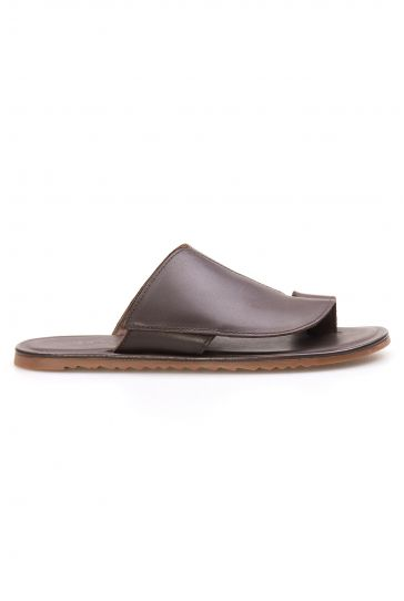 Florra Genuine Leather Men Slippers 203126 Brown