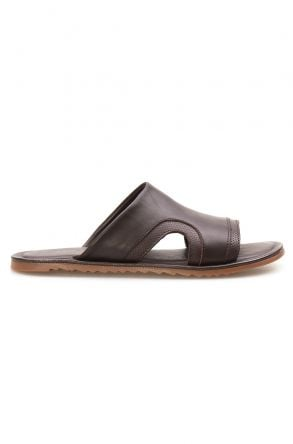 Florra Genuine Leather Men Slippers 203120 Brown