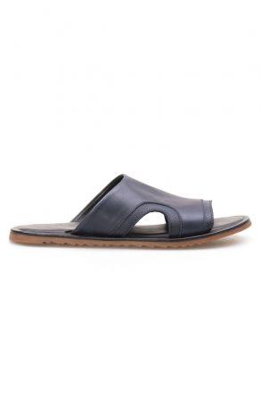 Florra Genuine Leather Men Slippers 203120 Navy blue