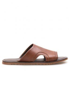 Florra Genuine Leather Men Slippers 203120 Ginger