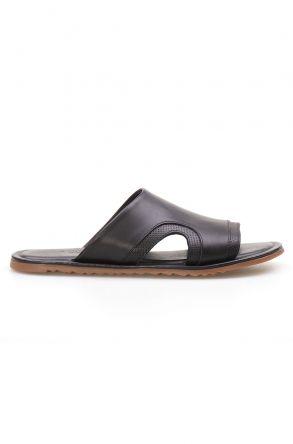 Florra Genuine Leather Men Slippers 203120 Black