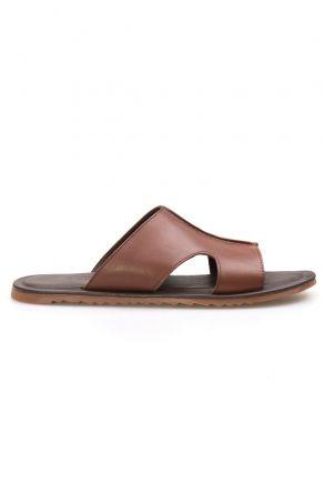 Florra Genuine Leather Men Slippers 203121 Ginger