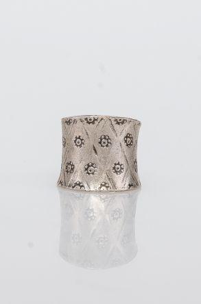 Pegia Deri Çantalı Vintage Tasarım Yüzük 19YZ10 Gümüş