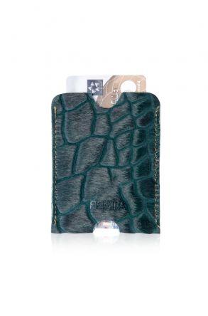 Pegia Hakiki Cavallino Deri Kartlık Cüzdan 19CZ211 Yeşil