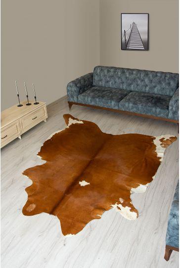 Pegia Genuine Cowhide Leather Carpet FST002 Natural