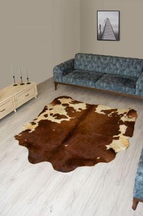 Pegia Genuine Cowhide Leather Carpet FST003 Natural