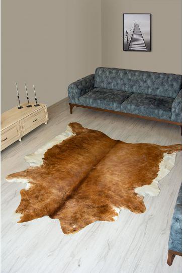 Pegia Genuine Cowhide Leather Carpet FST005 Natural