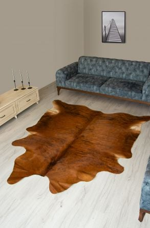 Pegia Genuine Cowhide Leather Carpet FST010 Natural