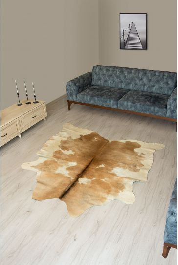 Pegia Genuine Cowhide Leather Carpet FST017 Natural