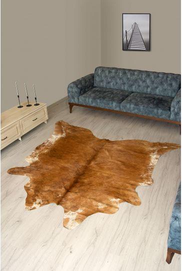 Pegia Genuine Cowhide Leather Carpet FST020 Natural