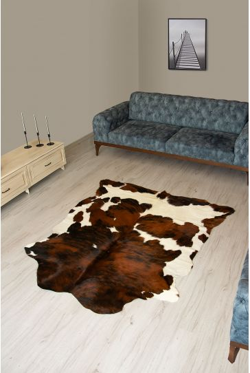 Pegia Genuine Cowhide Leather Carpet FST024 Natural