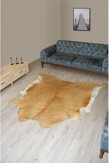 Pegia Genuine Cowhide Leather Carpet FST029 Natural
