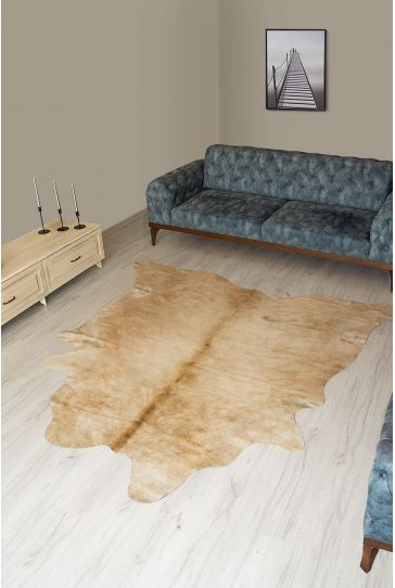 Pegia Genuine Cowhide Leather Carpet FST032 Natural