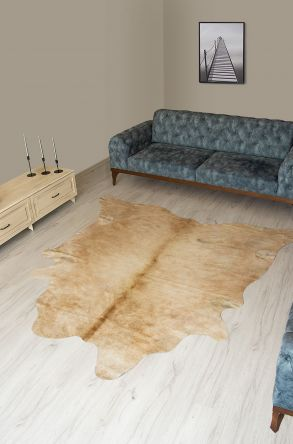 Pegia Genuine Cowhide Leather Carpet FST032 Natural