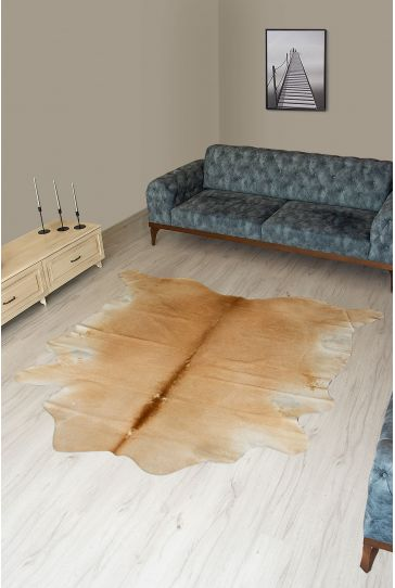 Pegia Genuine Cowhide Leather Carpet FST036 Natural