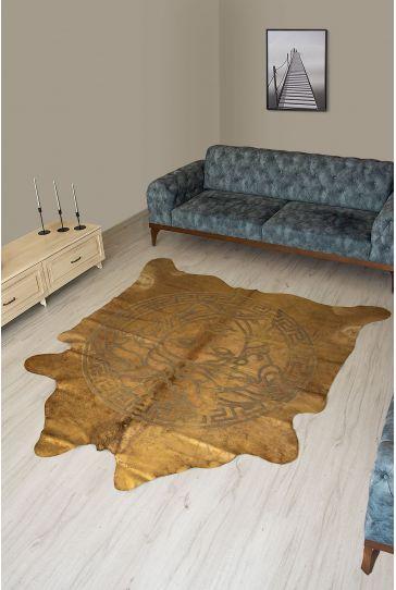 Pegia Genuine Cowhide Leather Carpet FST052 Natural
