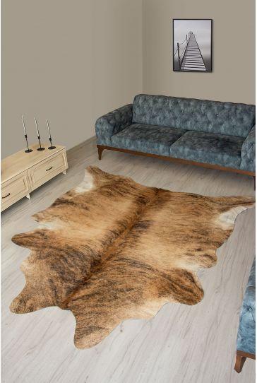 Pegia Genuine Cowhide Leather Carpet FST053 Natural