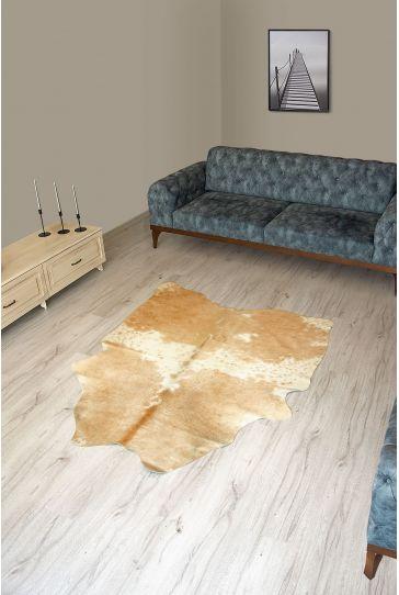 Pegia Genuine Cowhide Leather Carpet FST059 Natural