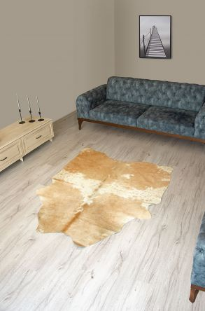 Pegia Genuine Cowhide Leather Carpet FST059 Natural