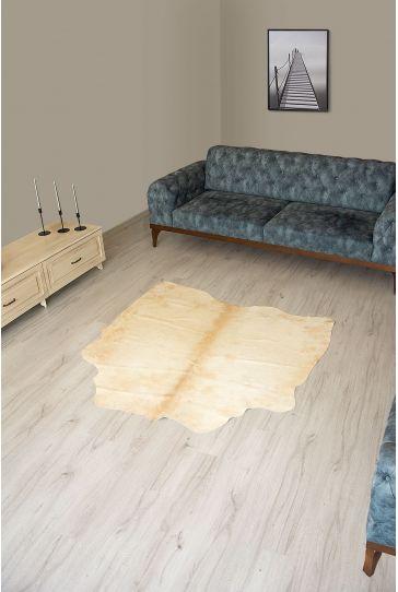 Pegia Genuine Cowhide Leather Carpet FST064 Natural