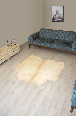 Pegia Genuine Cowhide Leather Carpet FST064 Natural