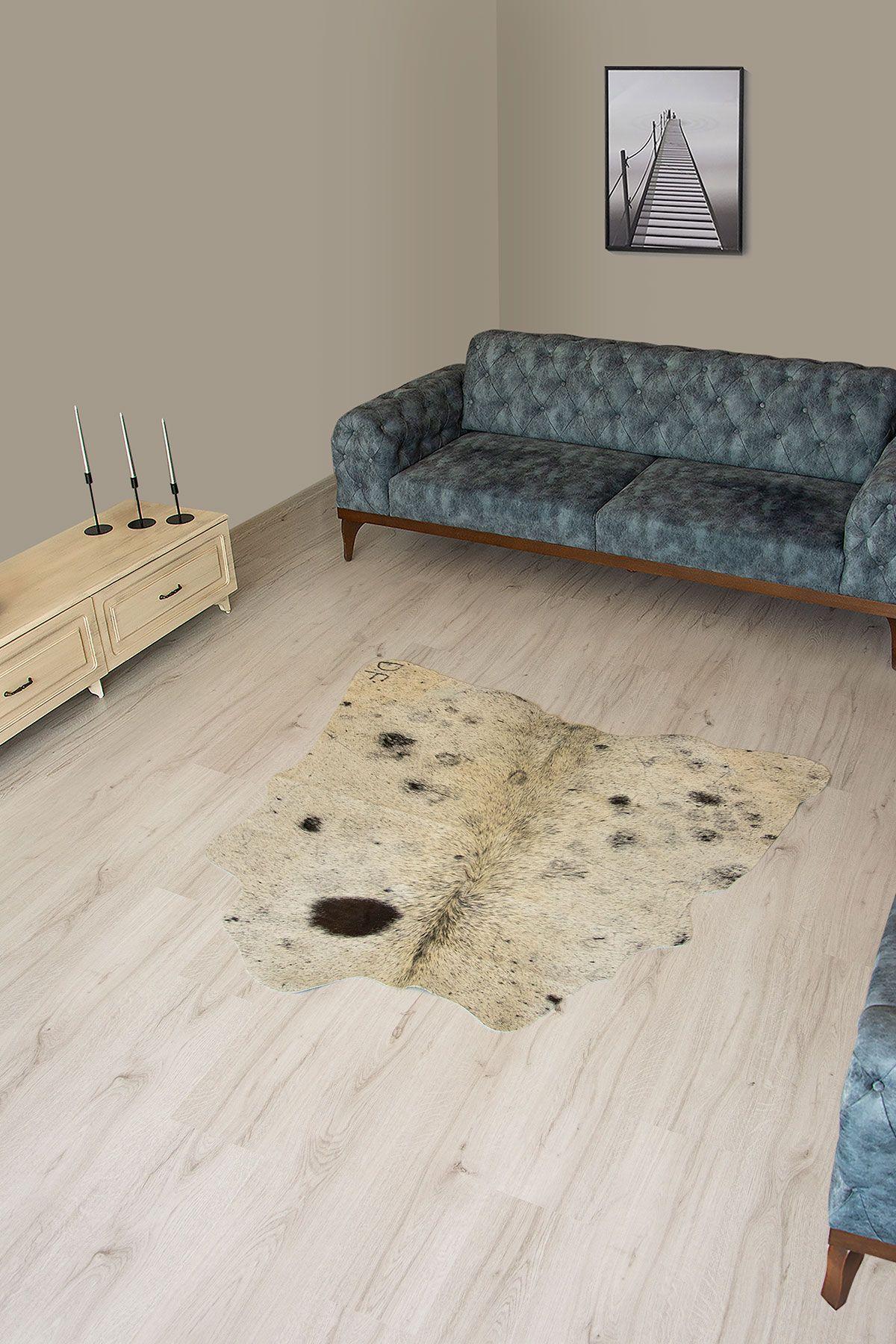 Pegia Genuine Cowhide Leather Carpet FST066 Natural