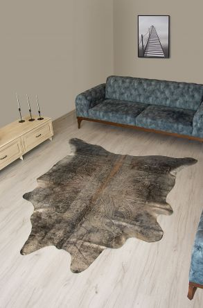 Pegia Genuine Cowhide Leather Carpet FST071 Natural