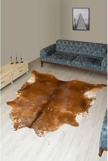 Pegia Genuine Cowhide Leather Carpet FST073 Natural