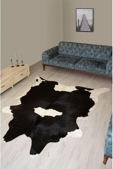 Pegia Genuine Cowhide Leather Carpet FST076 Natural